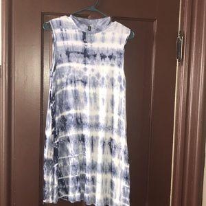 Tie Die Stretch Junior's Sleeveless Dress
